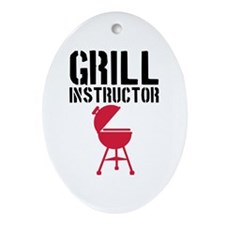 Barbecue - Grill Instructor Ornament (Oval)