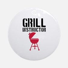 Barbecue - Grill Instructor Ornament (Round)