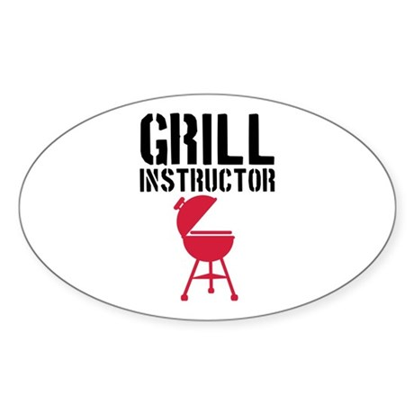 Barbecue - Grill Instructor Sticker (Oval)