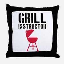 Barbecue - Grill Instructor Throw Pillow