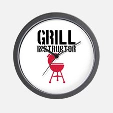 Barbecue - Grill Instructor Wall Clock