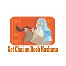 Get Chai on Rosh Hashana Postcards (Package of 8)