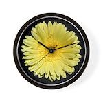Yellow Gerbera Daisy Wall Clock