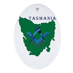 Tasmanian Masons Ornament (Oval)