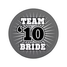 "Black 10 Team Bride 3.5"" Button"