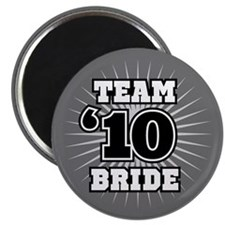 Black 10 Team Bride Magnet