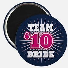 "Navy 10 Team Bride 2.25"" Magnet (10 pack)"