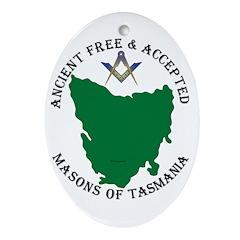 Tasmanian Masons Ornament (Oval)