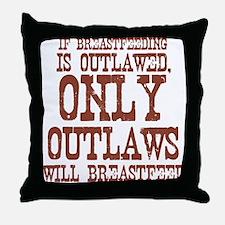 Breastfeeding Outlaw Throw Pillow