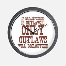 Breastfeeding Outlaw Wall Clock