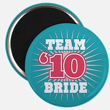 "Turquoise 10 Team Bride 2.25"" Magnet (10 pack)"