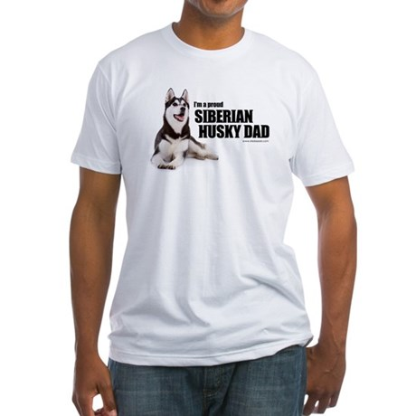Siberian Husky Dad Fitted T-Shirt