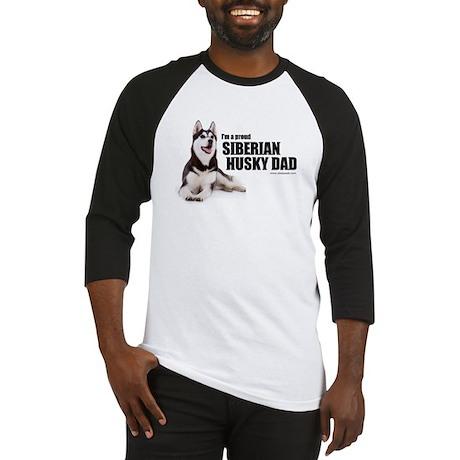 Siberian Husky Dad Baseball Jersey