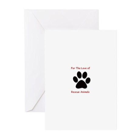 2-paw-print22 Greeting Cards