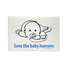 Save the baby humans - Rectangle Magnet