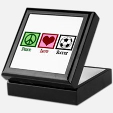 Peace Love Soccer Keepsake Box