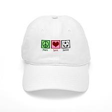 Peace Love Soccer Baseball Cap