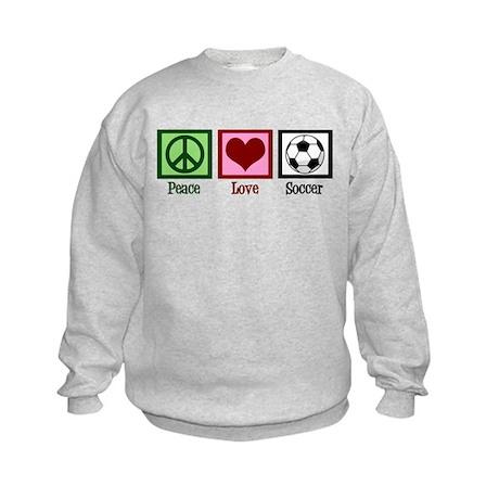 Peace Love Soccer Kids Sweatshirt