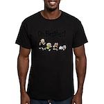Running! Men's Fitted T-Shirt (dark)