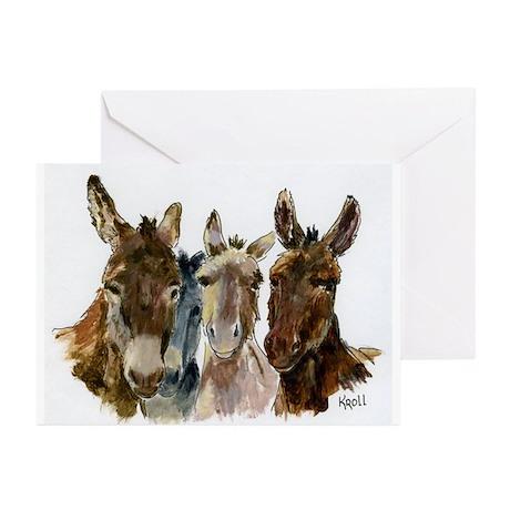 Clowns (donkeys) Greeting Cards (Pk of 20)