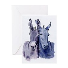 Beggars, donkey Greeting Card