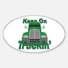 Keep On Truckin Sticker (Oval)