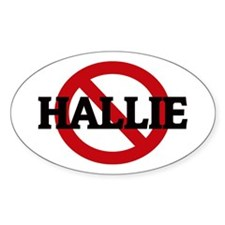 Anti-Hallie Oval Decal