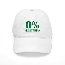 Meat - BBQ - 0% Vegetarian Baseball Cap