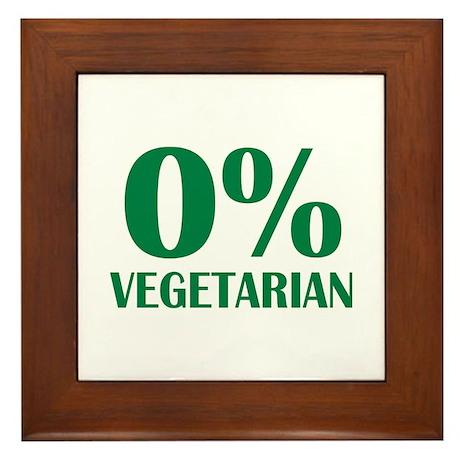 Meat - BBQ - 0% Vegetarian Framed Tile