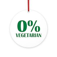 Meat - BBQ - 0% Vegetarian Ornament (Round)