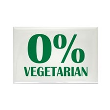 Meat - BBQ - 0% Vegetarian Rectangle Magnet