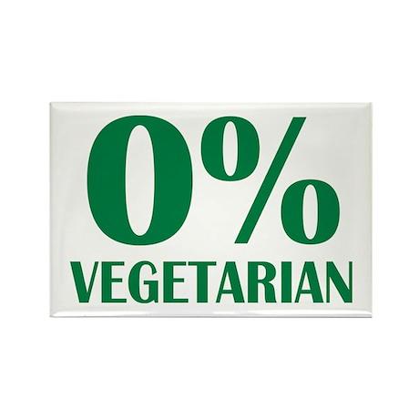Meat - BBQ - 0% Vegetarian Rectangle Magnet (100 p