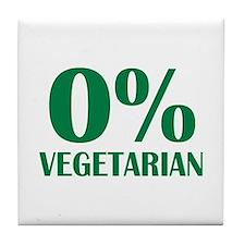 Meat - BBQ - 0% Vegetarian Tile Coaster