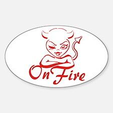 On Fire Sticker (Oval)