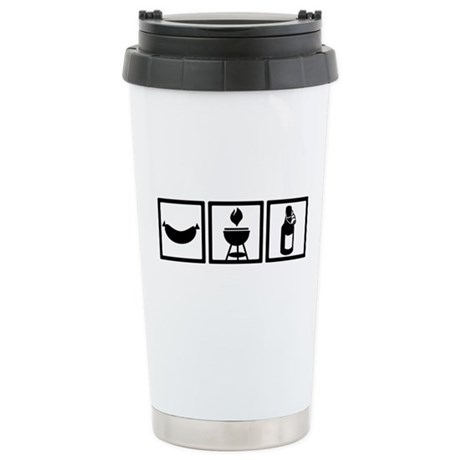 BBQ - Barbecue Gear Stainless Steel Travel Mug