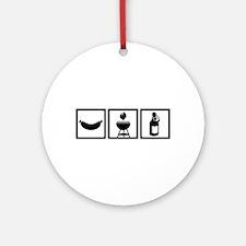 BBQ - Barbecue Gear Ornament (Round)