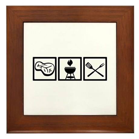 BBQ - Barbecue Gear Framed Tile