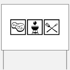 BBQ - Barbecue Gear Yard Sign