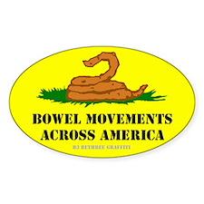 Bowel Movement Across America Decal
