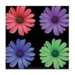 Four Color African Daisy Tile Coaster