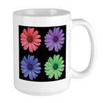 Four Color African Daisy Large Mug