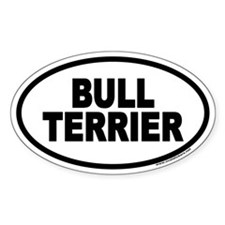 Bull Terrier Euro Oval Decal