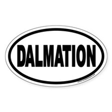 Dalmation Euro Oval Decal