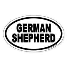 German Shepherd Euro Oval Decal