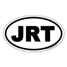Jack Russell Terrier JRT Euro Oval Decal