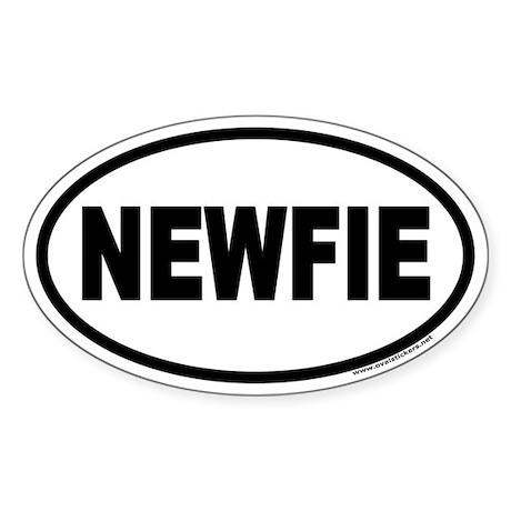 NEWFIE Newfoundland Euro Oval Sticker