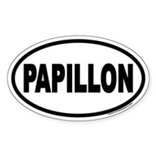 Papillon Euro Oval Decal
