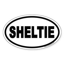 Sheltie Euro Oval Decal