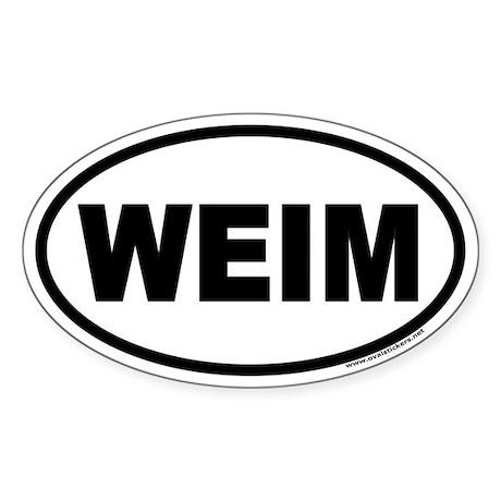 WEIM Weimaraner Euro Oval Sticker