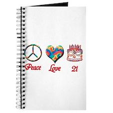 Cute 21st birthday Journal